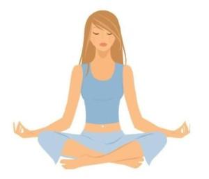 Yoga lady clip art